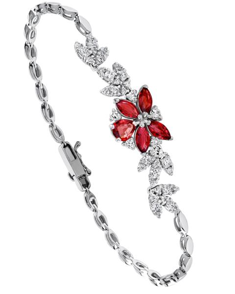 Photo of Ruby Flower Bracelet