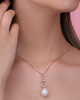 photo of pearl rose gold pendant