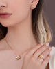 photo of yellow shell earrings