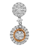 Photo Of Rose Gold Diamond Earrings