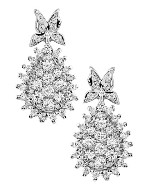 photo of white gold diamond earrings
