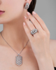 White gold diamond set