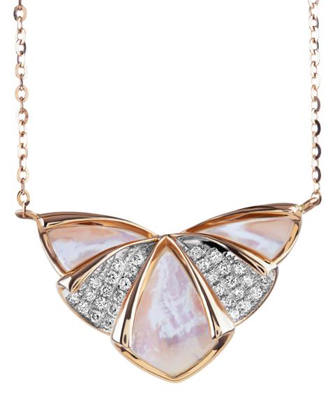 Diamond And Shell Pendant