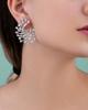 round cut diamond earrings