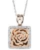 Flower Diamond pendant