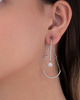 white gold ruby jewellery earrings
