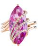 rose gold marquise cut quartz ring
