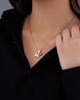 rose gold white shell pendant