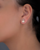 champagner gold diamond earrings