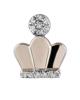 round cut diamond crown earrings