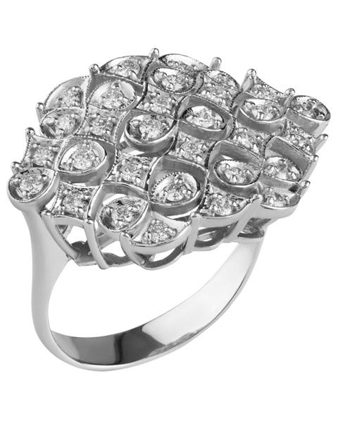 white gold round cut diamond ring
