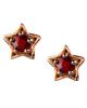 Ruby star earrings