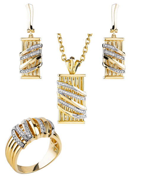 rose gold round cut diamond set