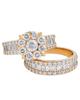 baguette cut diamond double ring