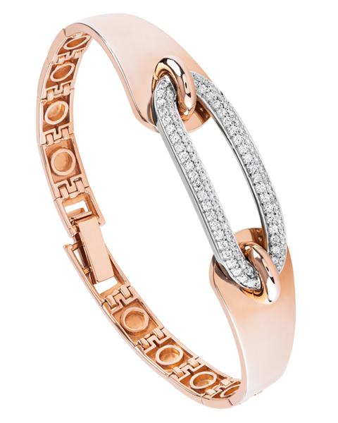 rose gold round cut diamond bracelet