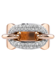 rose gold round cut  diamond ring