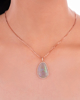 Diamond and Opal Pendant