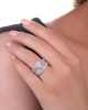 Wedding white gold diamond double ring