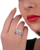 white gold diamond double ring