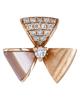 rose gold shell earrings