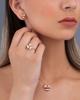 rose gold pink shell earrings