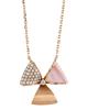 diamond and pink shell pendant