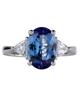 white gold blue tanzanite ring