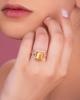 rose gold diamond and citrine ring