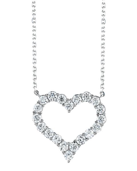 white gold round cut diamond pendant